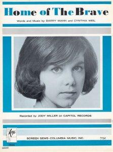 Home Of The Brave Jody Miller 1960s Sheet Music