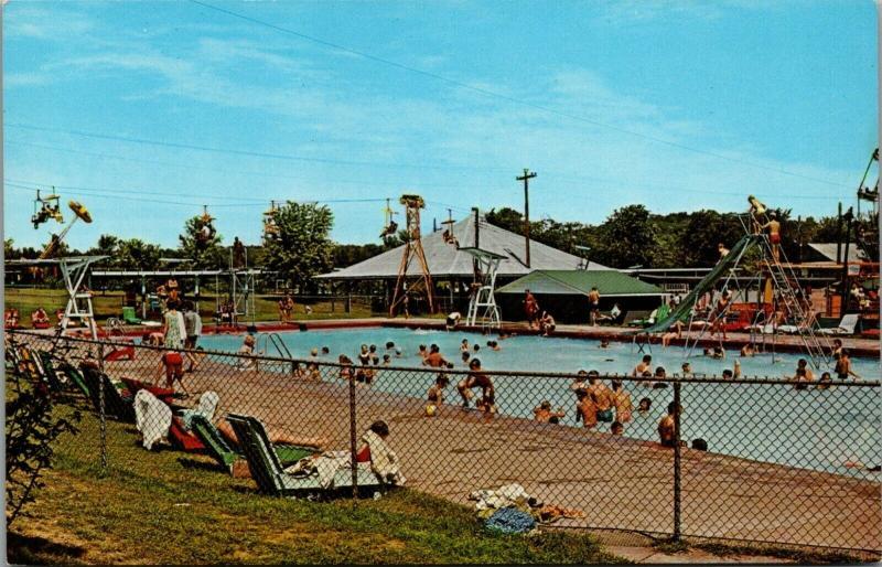Bowling Green KY~Beech Bend Amusement Park Rides~Swim Pool~Ferris Wheel~ 1950s