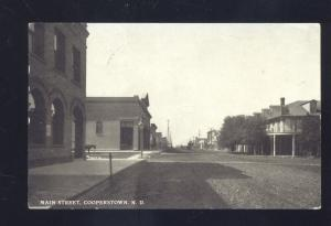 RPPC COOPERSTOWN NORTH DAKOTA DOWNTOWN MAIN STREET REAL PHOTO POSTCARD