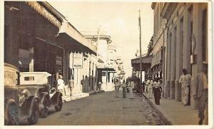 1937 Havana Cuba Street View Old Cars Real Photo Postcard