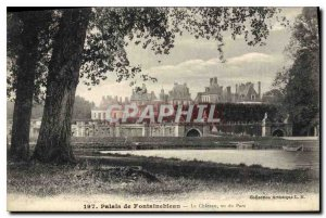 Postcard Old Palace of Fontainebleau Chateau seen Park
