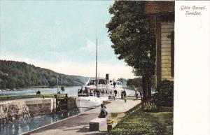 Sweden Goeta Canal Scene With Steamer