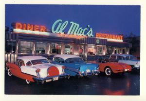 Fall River, Massachusetts/MA/Mass Postcard, Al Mac's Diner/Restaurant