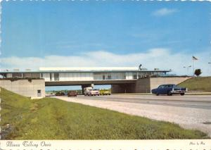 ILLINOIS TOLLWAY OASIS~FRED HARVEY RESTAURANT-GIFT SHOP POSTCARD 1960s