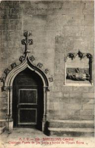 CPA AK BARCELONA Catedla Claustros Puerta de Sta Lucia y tumba SPAIN (672838)