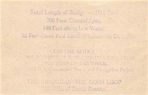 BRIDGE OF THE GODS Cascade Locks, OR Wauna Toll Bridge Co. 1934 Vintage Receipt