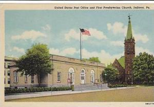 Pennsylvania Indiana The United States Post Office And First Presbyterian Church