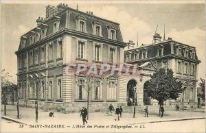 Old Postcard Saint Nazaire Hotel Post and Telegraphs LL