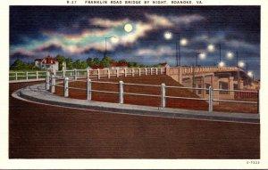 Virginia Roanoke Franklin Road Bridge By Night