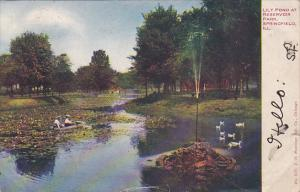 Lily Pond At Reservoir Park, SPRINGFIELD, Missouri, PU-1907