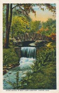 Canton, Ohio - Stone Bridge in West Lawn Cemetery - WB