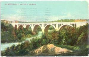 Connecticut Avenue Bridge, Washington, DC, 1910  Divided Back
