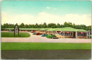 Mobile, Alabama Postcard WINTER GARDENS MOTOR HOTEL Route 90 Roadside c1950s