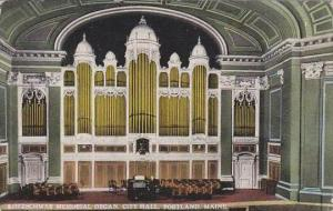 Maine Portland Kotzschmar Memorial Organ City Hall