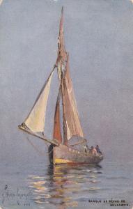 TUCK 7217 ; Barque de Peche de BOULOGNE, Pas De Calais, France, 1900-1910