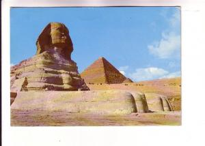 Sphinx and Pyramid of Cheops, Giza, Egypt