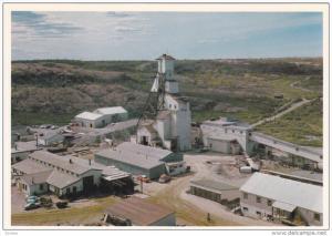 Aerial View, C Shaft Headframe, Gold Producer, YELLOWKNIFE, Northwest Terri...