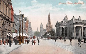 Scotland, UK Old Vintage Antique Post Card Princes Street Edinburgh Unused
