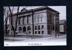 ME City Hall 1908 View WATERVILLE MAINE Postcard