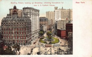 Bowling Green Looking Up Broadway, Manhattan, New York City, Early Postcard