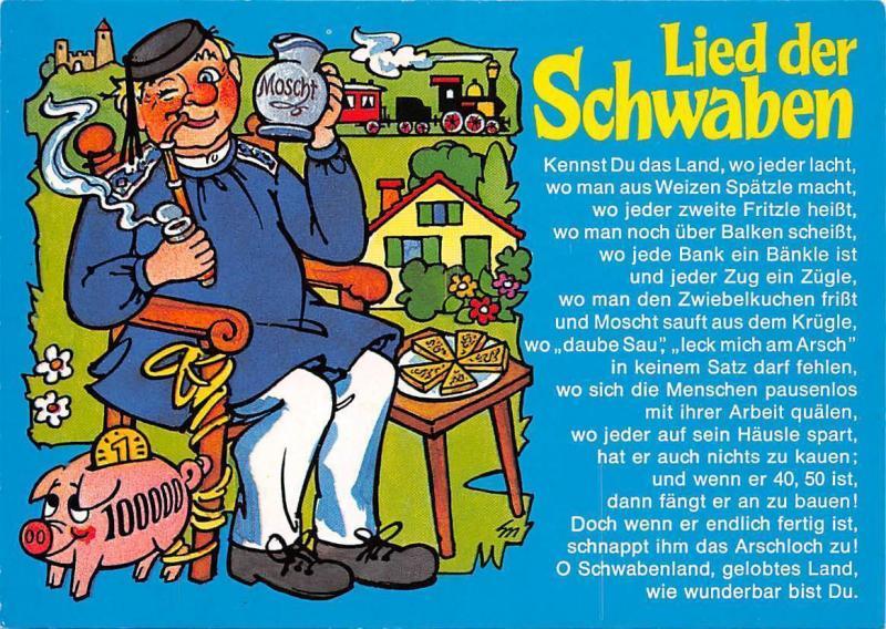 Fantasy Comic Illustration, Lied der Schwaben, Moscht, pig money box, Good Luck!