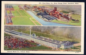 Michigan Air View Split View - Ford Motor Co River Rouge Plant DEARBORN - LINEN
