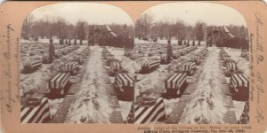 SV: ARLINGTON, Virginia, 1890s ; Burial of the Victums of the MAINE