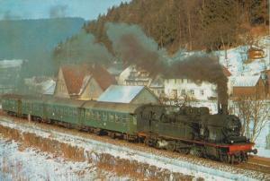 Tenderlokomotive 078 453-8 Dettinger Railway German Train Postcard