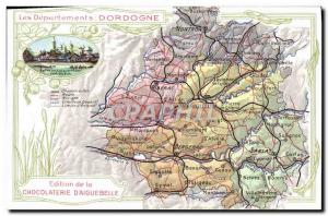 Old Postcard geographical maps of Chocolaterie & # 39Aiguebelle Dordogne Peri...