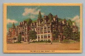 City Hall St Louis MO Missouri Postcard