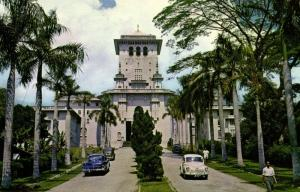 malay malaysia, JOHORE BAHRU, Main Mew of Government Building (1960s)  S.W. M-1