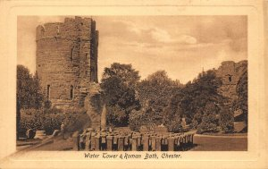 Water Tower and Roman Bath Chester Postcard