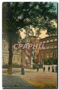 Old Postcard Heidelberg Schlosshof