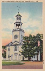 Vermont Bennington Old First Church 1949 Curteich