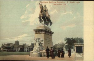 1904 Louisiana Purchase Expo St. Louis Postcard EXC COND St. Louis Statue
