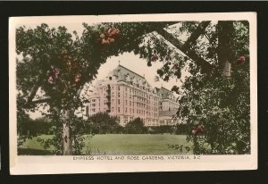 Postmarked 1950 Empress Hotel Victoria BC Gowen Sutton Color Postcard