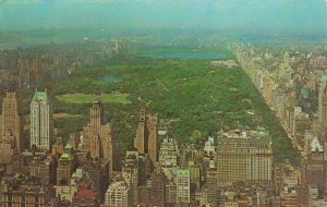 Postcard Central Park as Seen from the RCA Observatory New York City