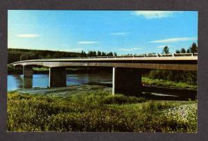 BC Muskwa Bridge Fort Nelson British Colombia Canada Alaska Hwy Alcan Postcard