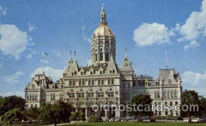 Hartford, Conn., Connecticut, USA United States State Capital Building Postca...