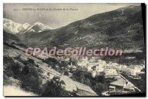 Old Postcard Brides les Bains and the Vanoise Glaciers