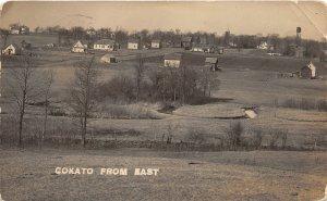 F80/ Cokato Minnesota RPPC Postcard 1914 Homes Farms Birdseye