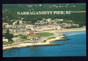 Narragansett Pier, Rhode Island/RI Postcard, Aerial View Of Towers & Beach