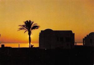 Tunisia Ile de Djerba, Bungalow a Sidi Maharez au Lever du Jour
