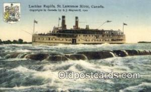Lachine Rapids, St Lawrence River, Montreal, Canada Steam Ship Postcard Post ...
