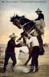 Western Cowboy Postcard Postcards  Riding & Outlaw