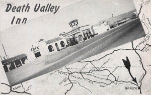 Death Valley Inn, Baker, California, Early Postcard, Unused