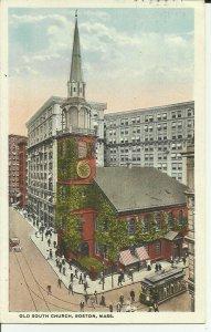Boston,Mass., Old South Church Trolley