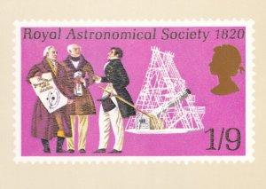 Navigation & Astronomy London Exhibition Stamp Souvenir Postcard
