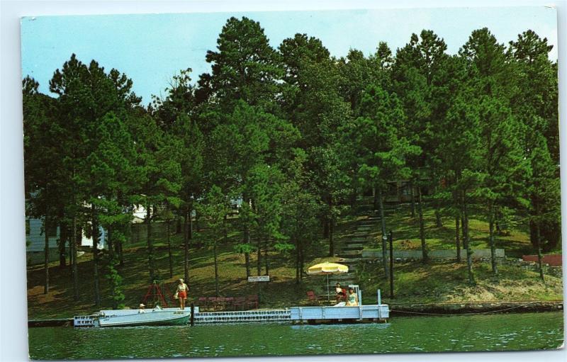 1960s Cochran's Cottages Lake Hamilton Hot Springs Arkansas Vintage Postcard C64
