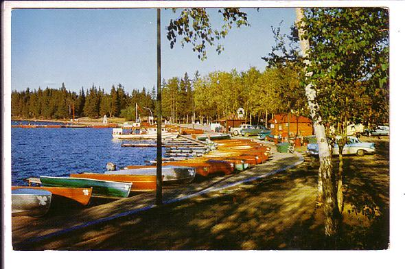 Beach at Waskesiu, Prince Albert National Park, Saskatchewan, Row Boats